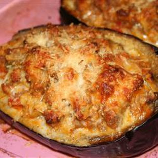 Eggplant with Sausage Stuffing