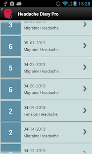 Headache Diary Pro- screenshot thumbnail