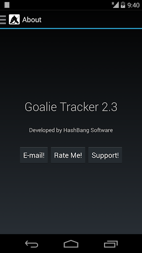Goalie Tracker
