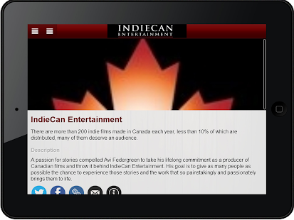 IndieCan Entertainment App- screenshot thumbnail