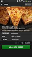 Screenshot of Domino's Pizza