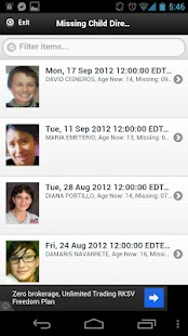 Missing Child Alerts - screenshot thumbnail