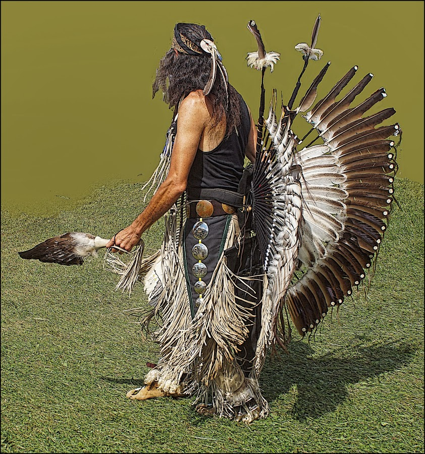 American Indian Dancer by Joseph T Dick - People Musicians & Entertainers