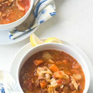 Gluten Free Portuguese Bean Soup.