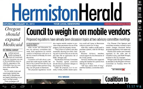 Hermiston Herald e-Edition - screenshot thumbnail