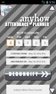 Anyhow Attendance Planner- screenshot thumbnail
