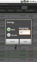 Screenshot of AlkoMeter Free