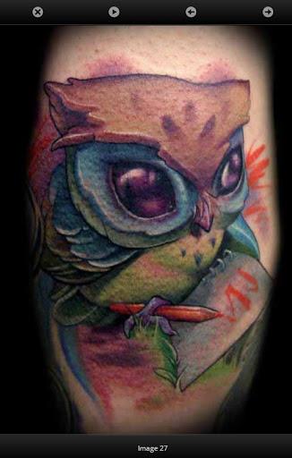 貓頭鷹紋身