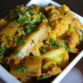 Aloo Gobi Without Onion Recipes.