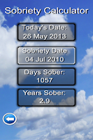 Screenshot of Sober Day Recovery App
