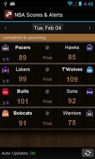 NBA Scores Alerts