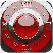 Red deluxe clock widget