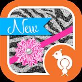 Pink & Glitter Zebra Theme SMS