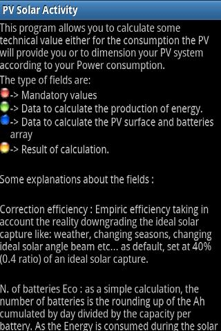 PV Solar Calculator - screenshot