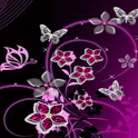 Butterfly Flowers Live Wallpap icon