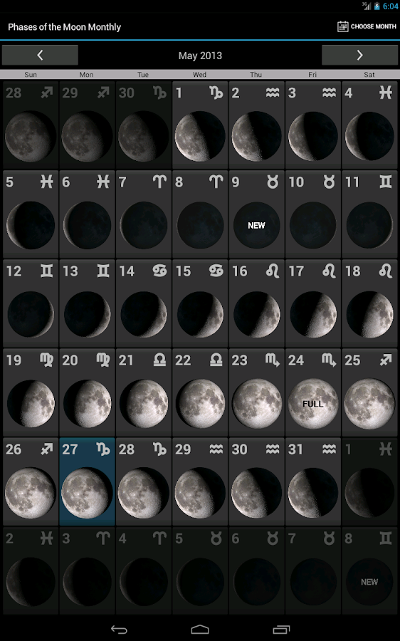 Phases of the Moon Pro- screenshot