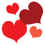 Hearts Red GO Launcher Theme