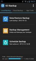 Screenshot of GO Backup & Restore Pro