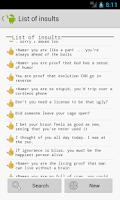 Screenshot of Insults generator: Insultator