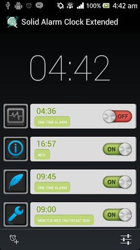 Solid Alarm Clock Extended 3.19 screenshots 1