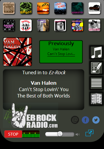 Web Rock Radio- screenshot