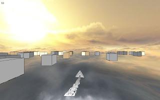 Screenshot of Cube Racer: A ship runner race
