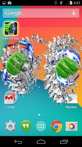 綠拳頭砸碎屏幕 - Broken Screen|玩娛樂App免費|玩APPs