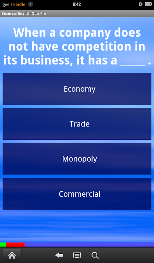 Business English Quiz Pro- screenshot