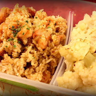 Shrimp Paella w/ Roasted Cauliflower.