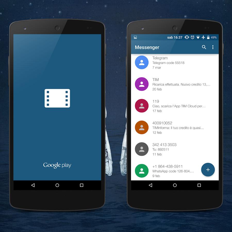 Google themes app - Skyblue Donate Layers Theme Screenshot