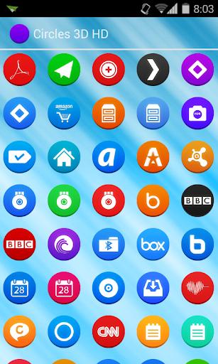 Circles HD Go Nova Apex Theme 1.0 screenshots 5