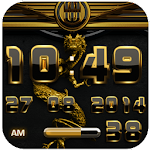 dragon digital clock gold