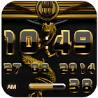 dragon digital clock gold icon