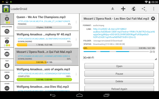 Loader Droid download manager  screenshots 7