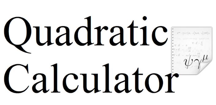 Quadratic Equation Calculator Solves Quadratic Equations Shows