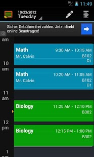 My Class Schedule: Timetable- screenshot thumbnail