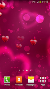 Hearts Live Wallpaper By Cute Wallpapers And Backgrounds Poster