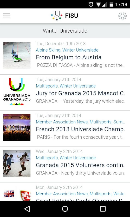 FISU- screenshot