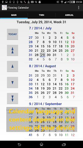 Flowing Calendar LITE