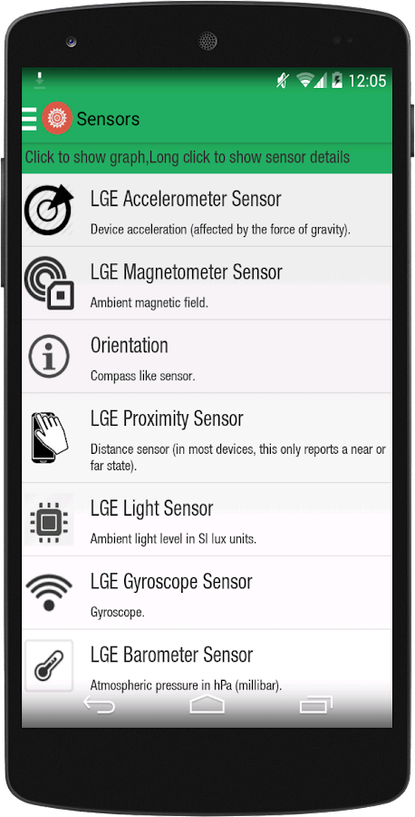 S Tools - Sensors and compass - screenshot