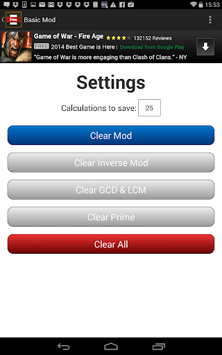 Basic Mod Calculator  screenshots {n} 4