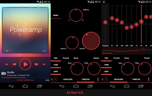 Skin for Poweramp KK Red  screenshots 5