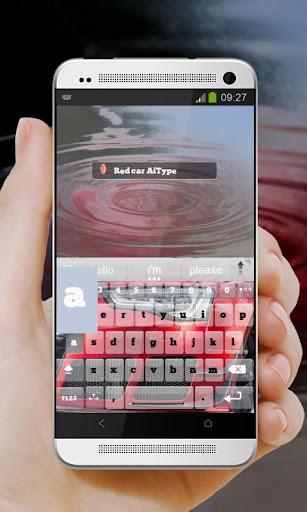 無料个人化Appの赤い車 AiType テーマ|記事Game