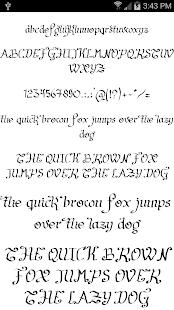 Fonts for FlipFont Script Font 7