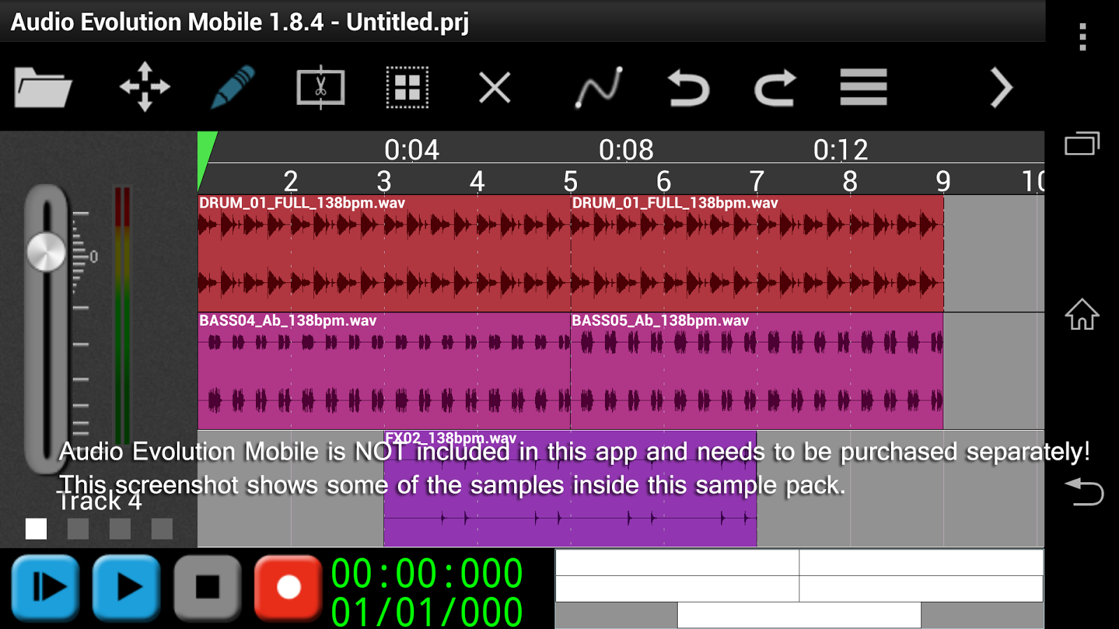 Scary Percussion For AEMobile Screenshot