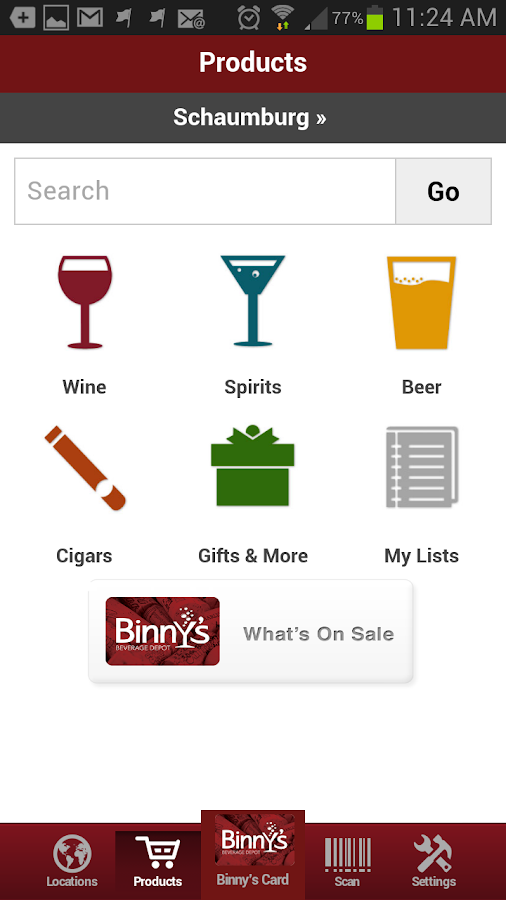 Binny's - screenshot