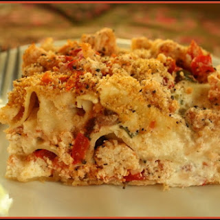Three Cheese Chicken Lasagna