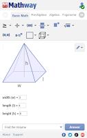 Screenshot of Mathway