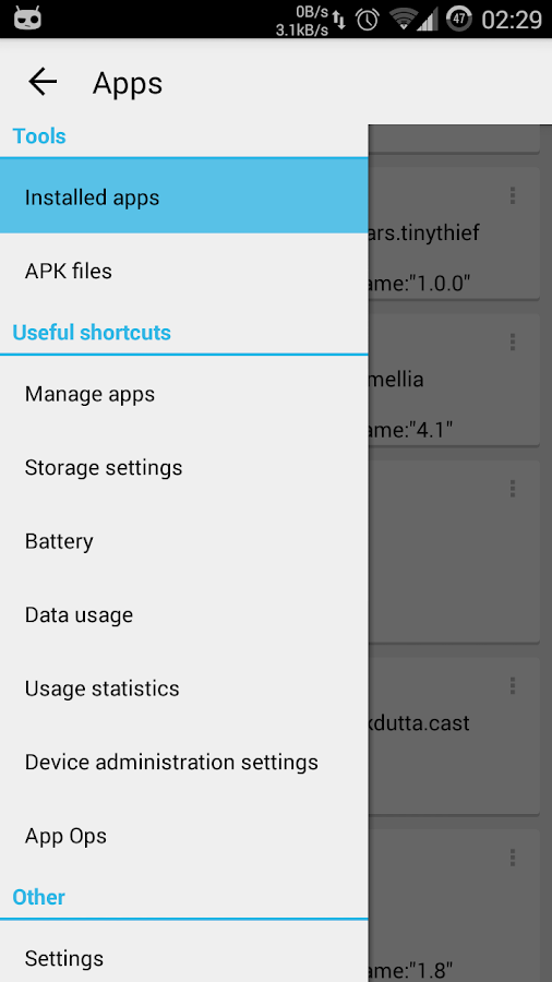 App Manager - screenshot