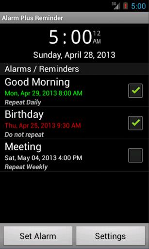 Alarm Plus Reminder